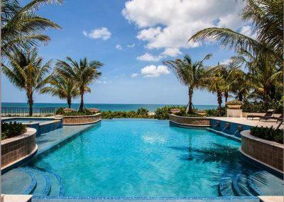 Pool Side Beach View