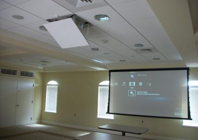 Projector Screen Display for Commercial Settings