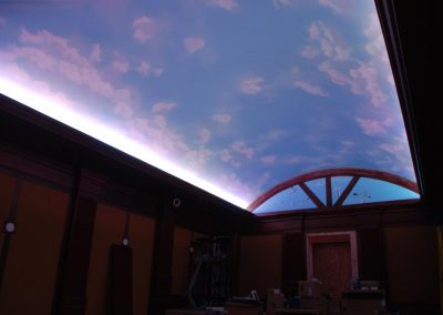 Cloudy Sky Home Theater Ceiling Display