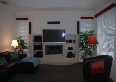 Simple Media Room with Integrated TV Mount