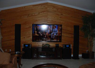 Media Room with Dual Mac Speakers