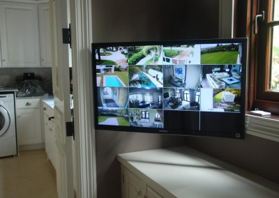 Camera Surveillance Monitor in Laundry Room