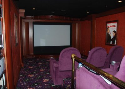 Classic Home Theater with Wood Finish