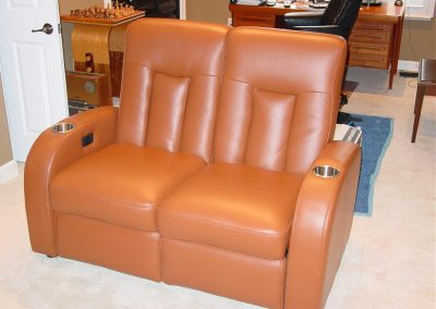 Automated Brown Leather Theater Seats